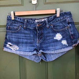 PINK Torn Denim Short Shorts